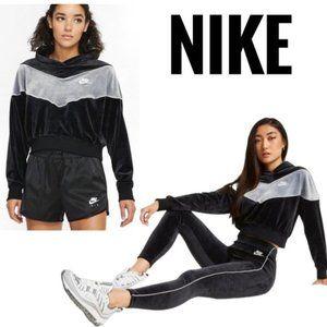 NWT Nike NSW Colorblock Plush Heritage Hoodie S